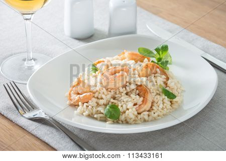 italian risotto with shrimps