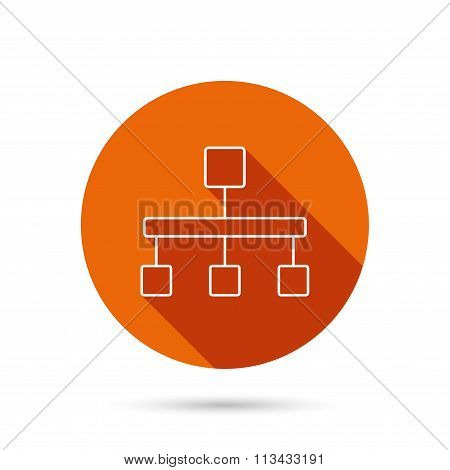 Hierarchy icon. Organization chart sign.