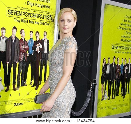 Abbie Cornish at the Los Angeles premiere of