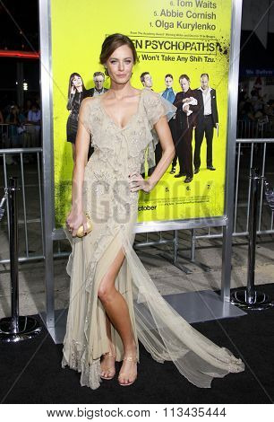 LOS ANGELES, CALIFORNIA - October 1, 2012. Christine Marzano at the Los Angeles premiere of 'Seven Psychopaths' held at the Mann Bruin Theatre, Los Angeles.