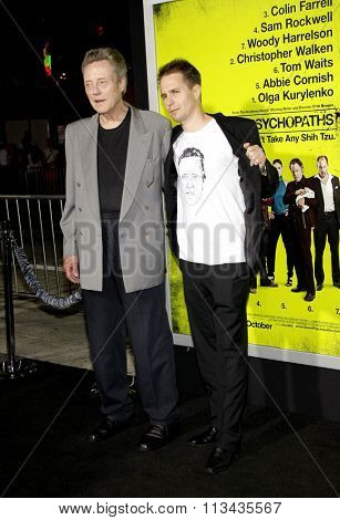 Christopher Walken and Sam Rockwell at the Los Angeles premiere of