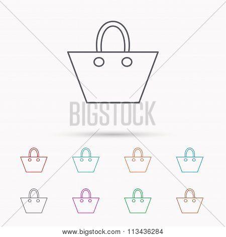 Ladies handbag icon. Elegance women accessory.