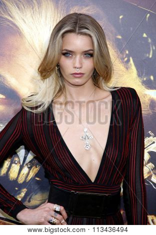 Abbey Lee Kershaw at the Los Angeles premiere of