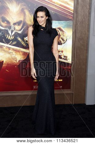 Megan Gale at the Los Angeles premiere of