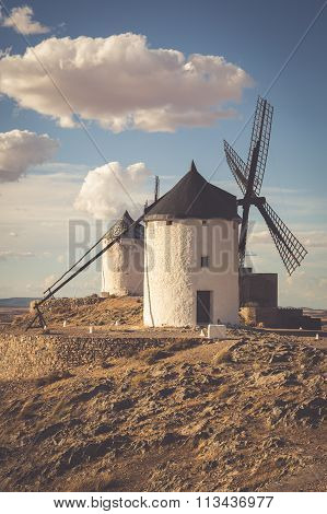 Windmills Of Don Quixote. Cosuegra, Spain
