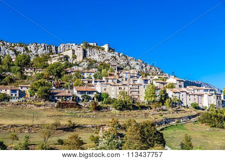Trigance Village And Castle-provence,france
