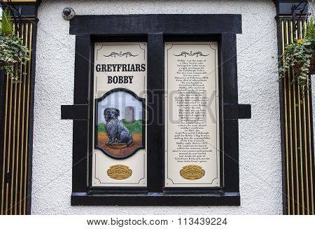 Greyfriars Bobby Information Sign In Edinburgh