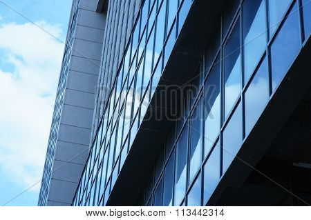 High Rise Building With Window Line Pattern Perspective