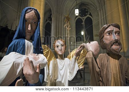 Puppets Used For Christmas Inside Saint John Divine Church