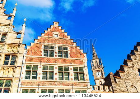 historic buildings in Ghent, Belgium