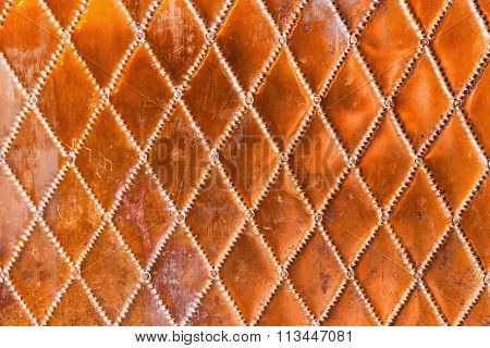 copper pattern of a copper door for background textures