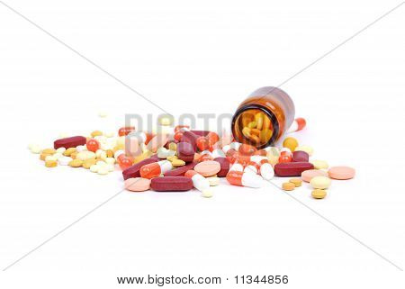 Jar with tablets