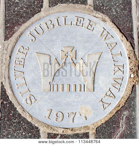 Silver Jubilee Walkway Symbol