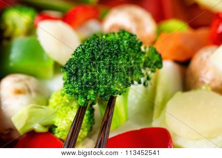 Freshly Cooked Mixed Vegetables Ready To Eat