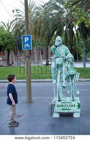 Street Performers Las Ramblas
