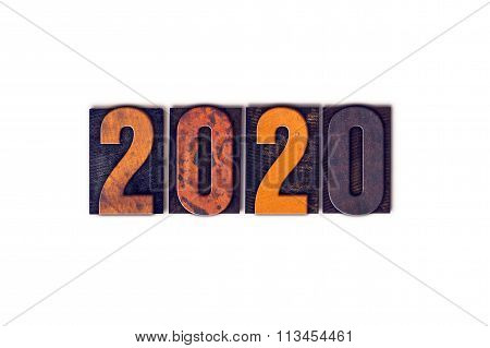 2020 Concept Isolated Letterpress Type