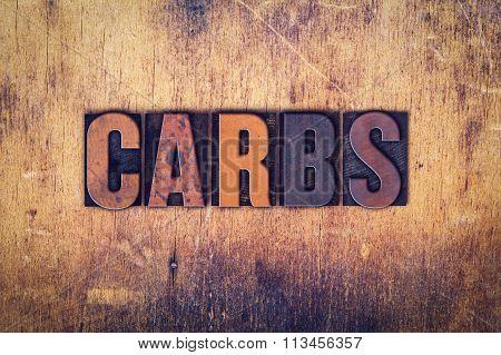 Carbs Concept Wooden Letterpress Type
