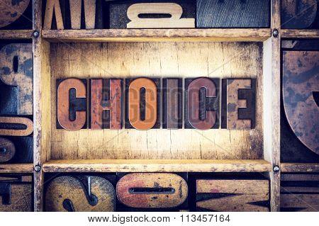 Choice Concept Letterpress Type