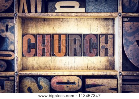 Church Concept Letterpress Type