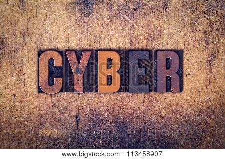 Cyber Concept Wooden Letterpress Type