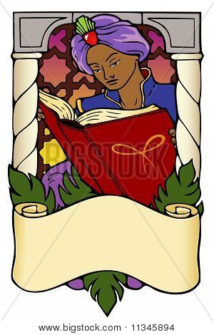 Arabian Nights bookplate