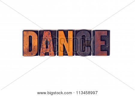 Dance Concept Isolated Letterpress Type