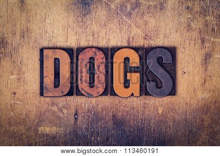 Dogs Concept Wooden Letterpress Type