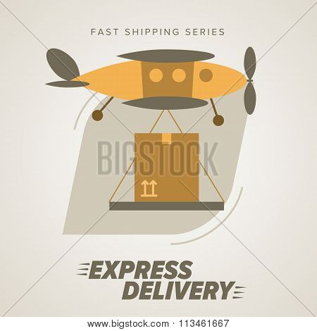 Express Delivery Symbols. Worldwide Shipping.
