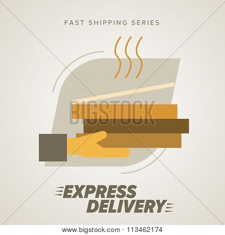 Fast Food Express Delivery Symbols.