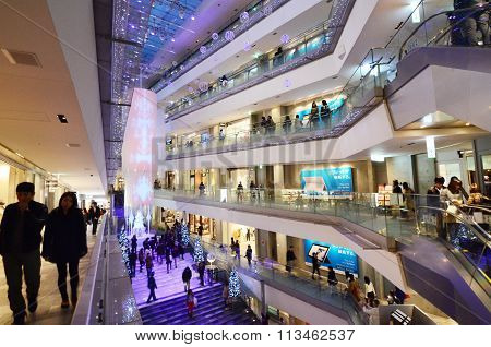 Tokyo, Japan - November 24, 2013: People Shopping In Omotesando Hills