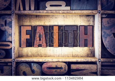 Faith Concept Letterpress Type