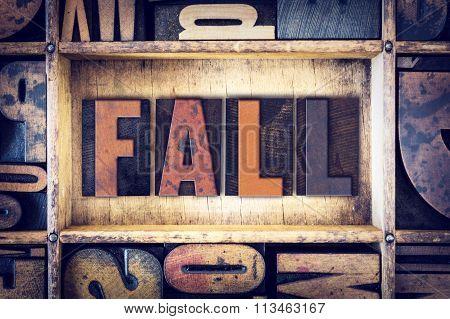Fall Concept Letterpress Type