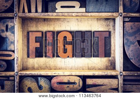 Fight Concept Letterpress Type