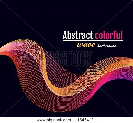 Abstract colorful wave background. Moving Colorful Lines on the