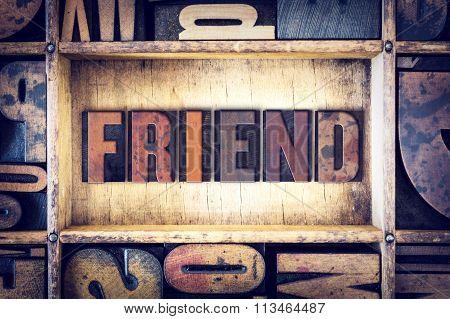 Friend Concept Letterpress Type
