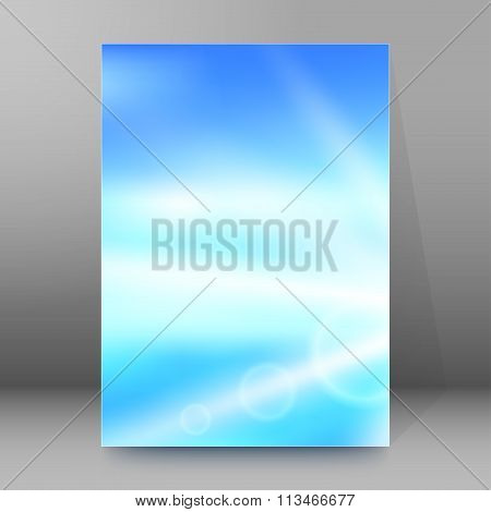Blur Blue Gradient Background Brochure Cover Page
