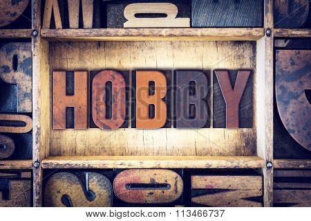 Hobby Concept Letterpress Type