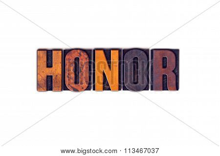 Honor Concept Isolated Letterpress Type