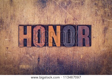 Honor Concept Wooden Letterpress Type