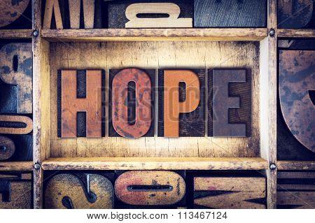 Hope Concept Letterpress Type