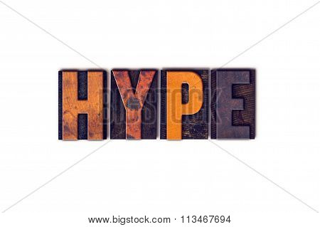 Hype Concept Isolated Letterpress Type