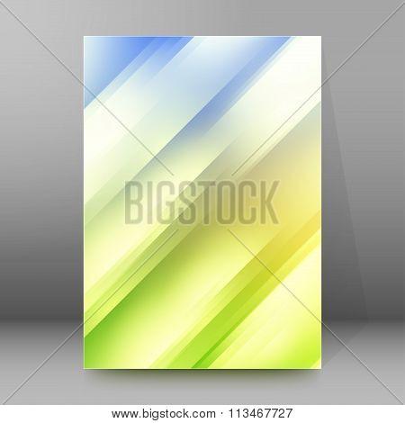 Blur Obliquely Gradient Background Brochure Cover Page