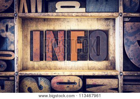 Info Concept Letterpress Type