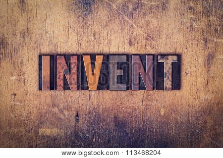 Invent Concept Wooden Letterpress Type