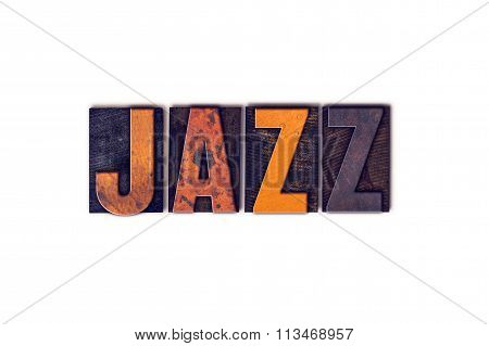 Jazz  Concept Isolated Letterpress Type