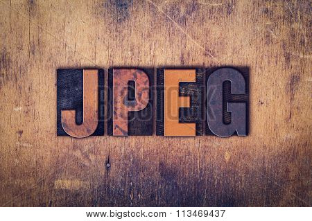 Jpeg Concept Wooden Letterpress Type