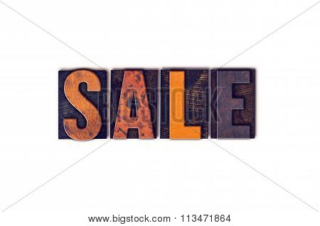 Sale Concept Isolated Letterpress Type