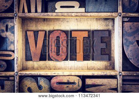 Vote Concept Letterpress Type