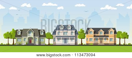 Three Classical Country House In The Suburbs