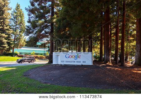 Exterior View Of Google Office.